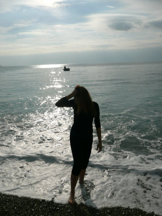 The very first time I stepped into the Mediterranean sea. January, 2011.