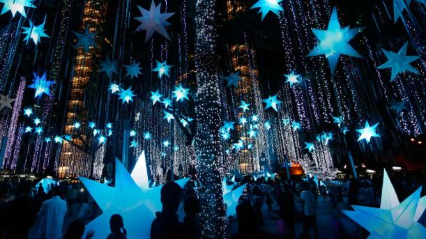 Holiday lights in the Philippines.